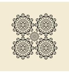 Mandala round ornament Circular oriental vector image vector image