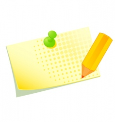 pinned note vector image