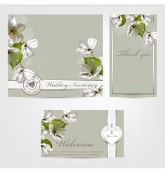 Wedding invitation Apple vector image