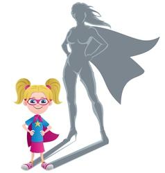 Girl Superheroine Concept vector image vector image