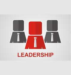leadership concept vector image vector image
