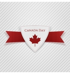 Canada day festive red tag vector