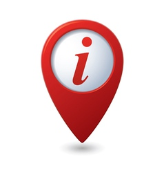 Map pointer with information icon vector image vector image