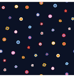 pattern floral simple vector image vector image