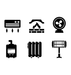 Six heat icons vector
