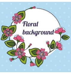 Background with round floral banner vector image vector image