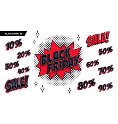 Black friday sale set black friday and sale vector