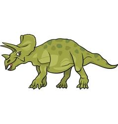 cartoon of triceratops dinosaur vector image vector image