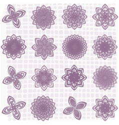 flower sketches vector image