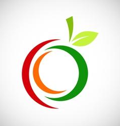 Fruit abstract logo vector