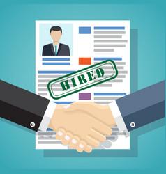hiring process concept vector image