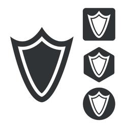 Shield icon set monochrome vector image