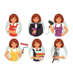 women professions vector image vector image