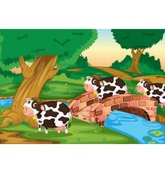 3 cows vector