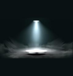 3d lantern spot illuminates round scene stage vector image