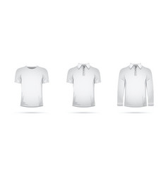 a set of white t-shirts vector image