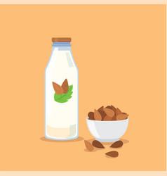 almond milk vector image