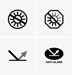 Anti-glare symbols vector
