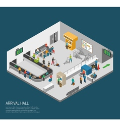 Arrival Hall Airport Poster vector