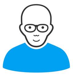 Bald man flat icon vector