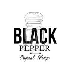 black pepper logo original design culinary spice vector image