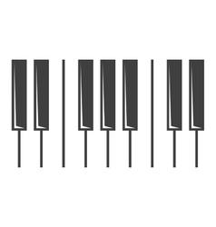 black piano key icon vector image