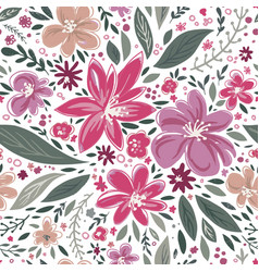 blossom and foliage flowers in bloom and buds vector image