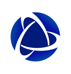 blue core global alliance circular symbol logo vector image