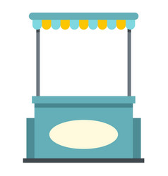 blue shopping counter with tent icon isolated vector image