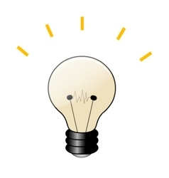 Cartoon lamp icon vector