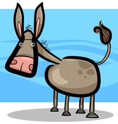 cartoon of cute donkey vector image