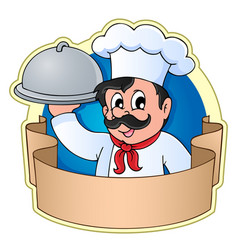 chef theme image 5 vector image