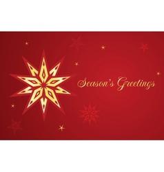 Christmas card with star vector