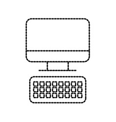 computer keyboard technology device office work vector image