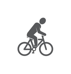 cyclist icon on white background vector image