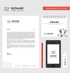 decoration lights business letterhead calendar vector image