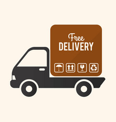 Delivery design icom ilstration vector