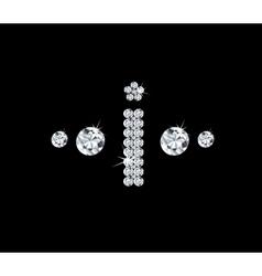 Diamond alphabetic letter I vector image