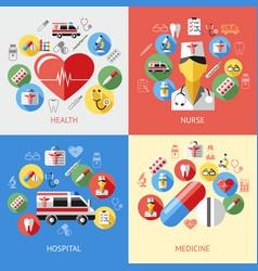 digital blue red pharmacy vector image