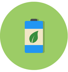 eco battery icon vector image