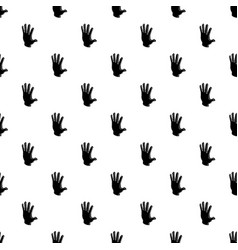 Election greeting hand pattern seamless vector