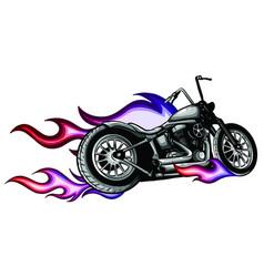 Fiery sports motorbike racer variation vector