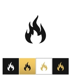 Fire sign flammable wildfire or hot icon vector image