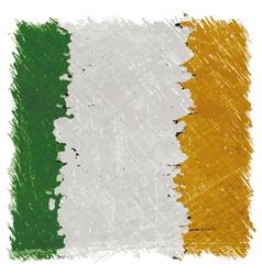 Flag of ireland handmade square shape vector