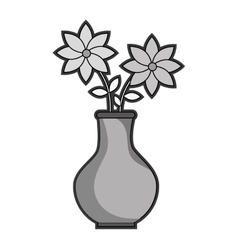 Flower vase isolated icon vector