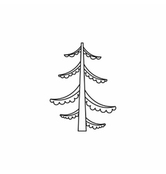 Forest fir tree icon outline style vector