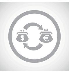 Grey dollar euro exchange sign vector image