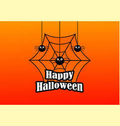 halloween celebration logo vector image