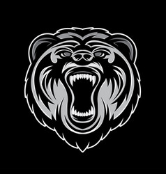 Head bear logo vector