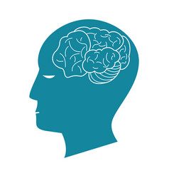 human head idea thinking vector image
